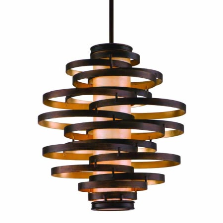 corbett with wide lighting fabric vertigo gold chandelier bronze light leaf shade