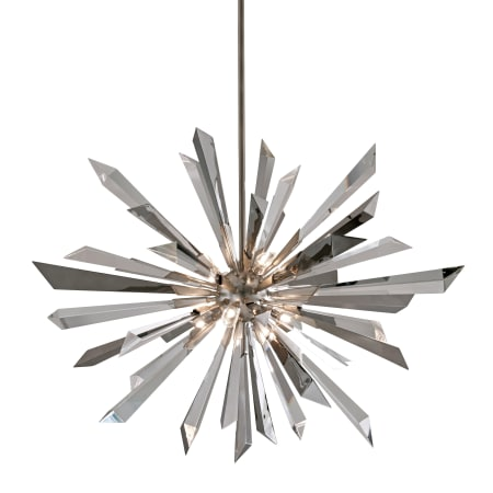 libra with garden accents home silver product light led leaf pendant stainless corbett lighting polished
