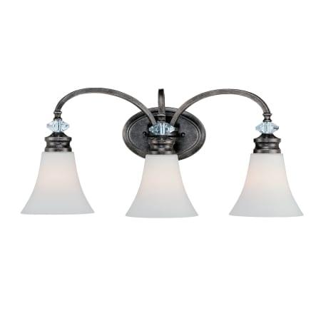 Craftmade 26703 Mbs Wg Mocha Bronze Silver Accents Boulevard 3 Light Bathroom Vanity Light 24 5 Wide