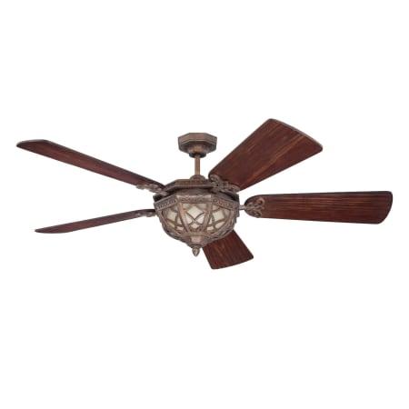 Craftmade eva54pr peruvian bronze evangeline 54 5 blade for Ceiling fan dc motor