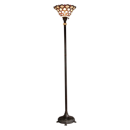 Dale Tiffany Tr70115 Fieldstone Peacock 1 Light Torchiere