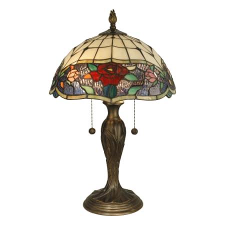 Dale Tiffany Tt10211 Antique Bronze Malta Tiffany 2 Light Table Lamp Lightingdirect Com