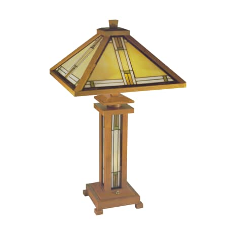 Dale Tiffany 2417 Cherry Mission Shade And Base Wood Table Lamp With