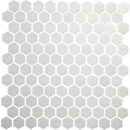 Daltile Up201hexms1p Alabaster Uptown Glass 1 X 1 Hexagon Mosaic