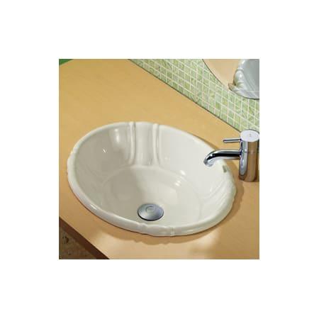 Decolav 1495 Cbn Bone 19 3 4 Quot Self Rimming Bathroom Sink