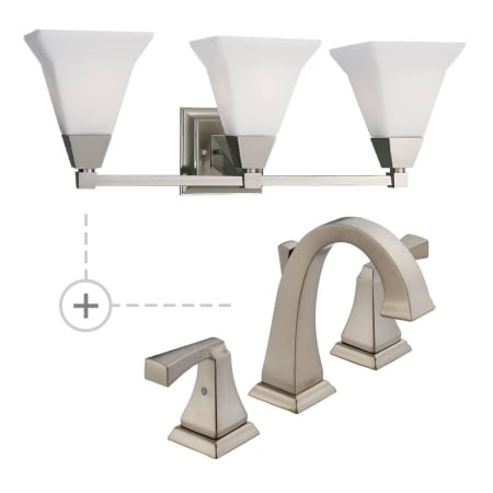 Delta 3551LF.P3137 Chrome Dryden Widespread Bathroom Faucet ...
