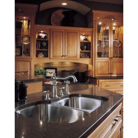 Delta 2256 Dst Chrome Victorian Kitchen Faucet With Side