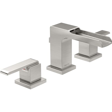 Delta 3568LF-SSMPU. Ara 1.2 GPM Widespread Waterfall Bathroom Faucet ...