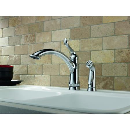 Delta 4453 Ar Dst Arctic Stainless Linden Kitchen Faucet