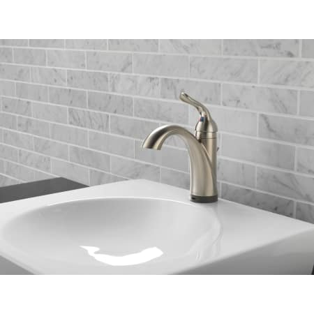 Delta 538t Dst Chrome Lahara Single Hole Bathroom Faucet With On Off