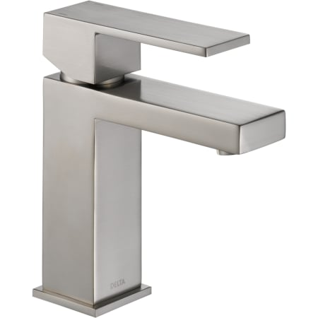 Delta 567lf Sspp Stainless Angular Modern Single Hole Bathroom