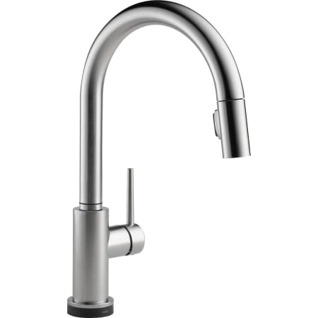 delta 9159t ar dst arctic stainless trinsic pull down kitchen faucet with onoff touch activation magnetic docking spray head includes lifetime warranty - Pull Down Kitchen Faucet