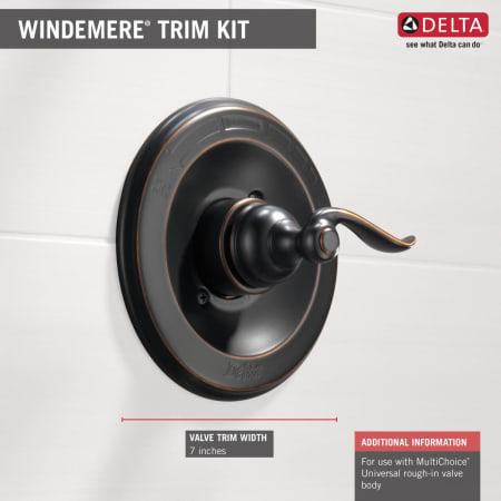 Delta Bt14096 Chrome Windemere Pressure Balanced Mixing
