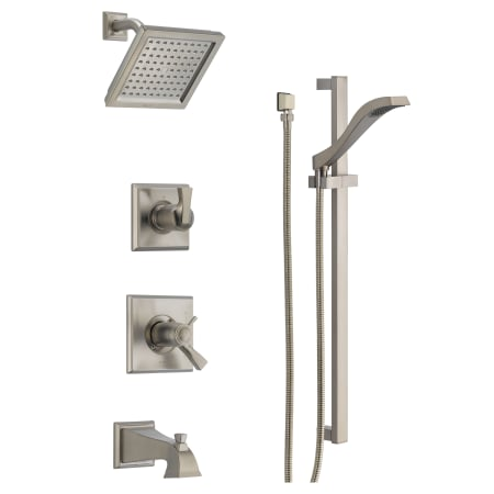Delta Dss Dryden 17t04ss Brilliance Stainless Tempassure 17t Series Thermostatic Tub And Shower