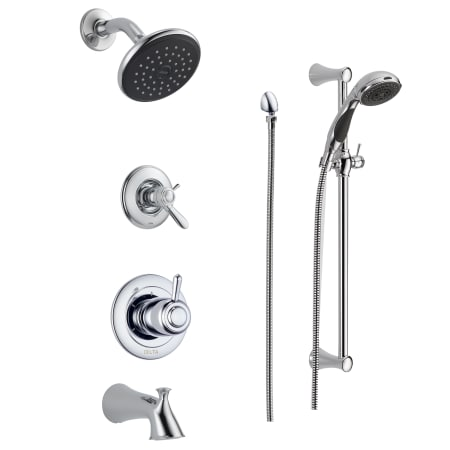 Delta Shower Heads With Hand Shower.Delta Dss Lahara 17t04 Chrome Tempassure 17t Series Thermostatic Tub