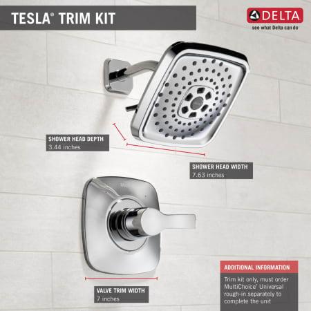 Delta T14252 Pn Brilliance Polished Nickel Tesla Pressure