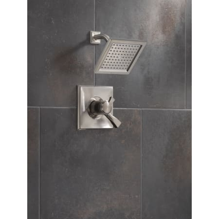 Delta T17251 Chrome Dryden 2.5 GPM Single Function Shower Head and ...