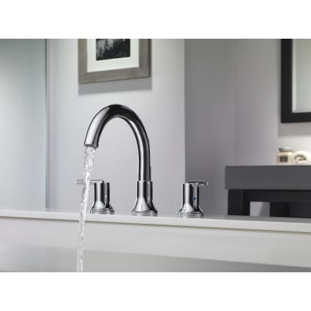 Delta T2759 Chrome Trinsic Deck Mounted Roman Tub Filler