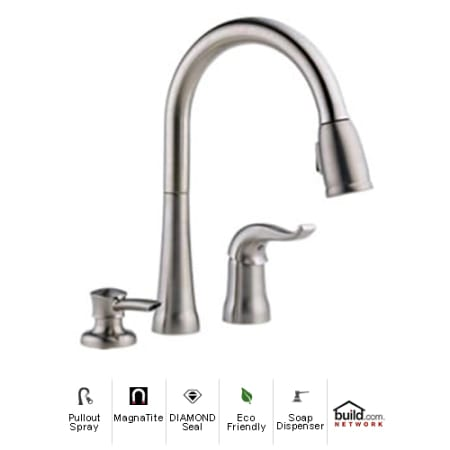 Delta 16970 Sssd Dst Brilliance Stainless Kate Pullout