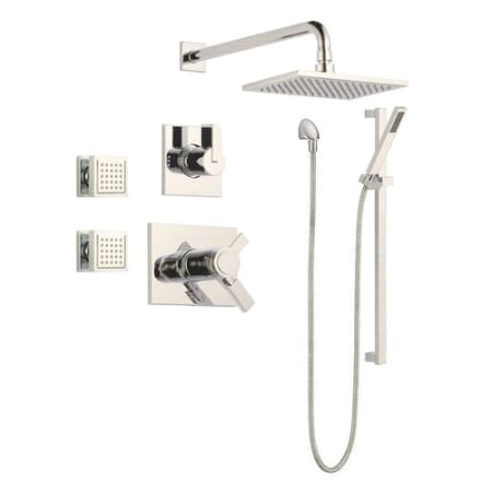 A Large Image Of The Delta Vero Monitor 17 Series Shower System Brilliance Stainless