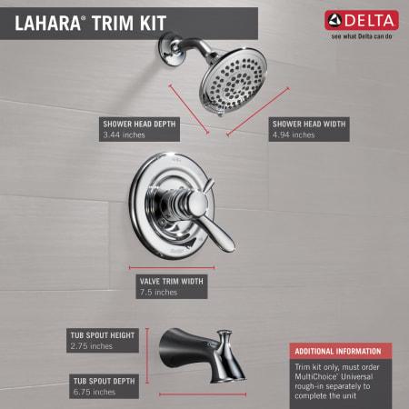 Delta T17438 Cz Champagne Bronze Lahara Monitor 17 Series
