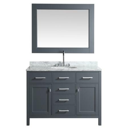 Design Element Dec076c G Gray London 48 Freestanding Vanity Set