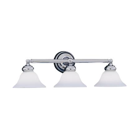 Designers fountain 4963 ch chrome 3 light bath bar from - Chapter 3 light bar bathroom light ...