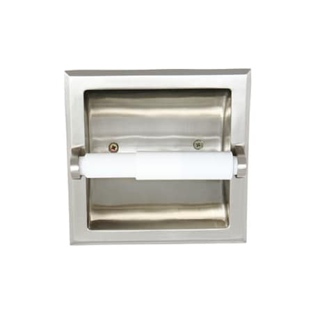 Design house 539189 satin nickel satin nickel recessed toilet paper holder from the millbridge - Recessed brushed nickel toilet paper holder ...