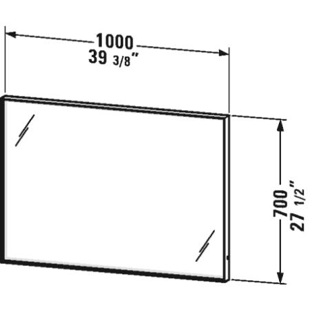 Duravit Lc738205353 Dark Chestnut L Cube 27 1 2 Quot H X 39 3 8