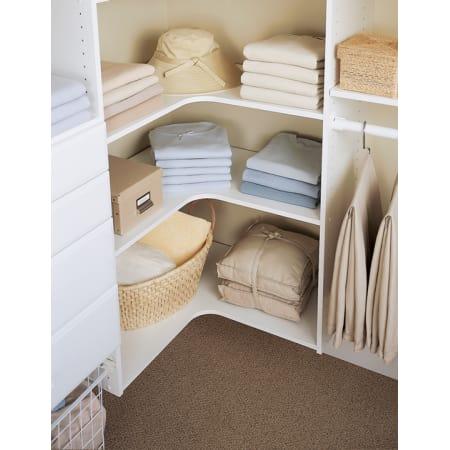 easy track rs3003 t truffle 29 7 8 inch corner shelf for easy track closet system 3 pack. Black Bedroom Furniture Sets. Home Design Ideas
