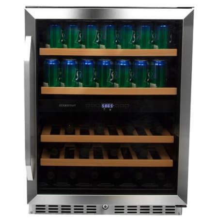 edgestar 24 inch built in wine and beverage cooler cwb8420dz. Black Bedroom Furniture Sets. Home Design Ideas