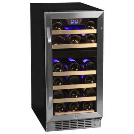 Edgestar 26 Bottle Dual Zone Stainless Steel Built In Wine