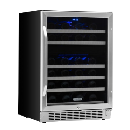 edgestar cwr461dz 46 bottle dual zone wine cooler. Black Bedroom Furniture Sets. Home Design Ideas