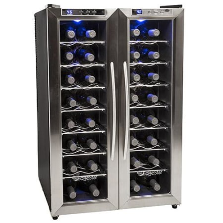 Edgestar 32 Bottle Dual Zone Wine Cooler Twr325ess