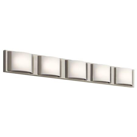 Elan 83822 Brushed Nickel Bretto 5 Light 37 1 2 Wide Integrated Led