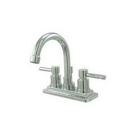 Elements of design es8661dl chrome twin lever handles 4 centerset bathroom faucet for Elements of design bathroom faucets