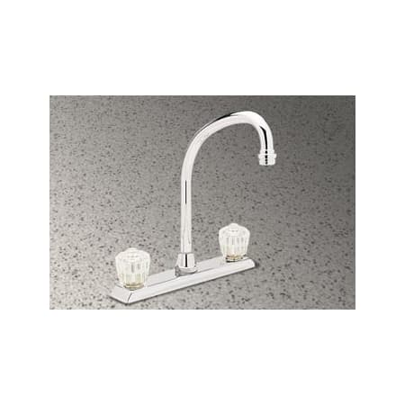 Elkay undefined Chrome Double Handle Kitchen Faucet with Acrylic ...