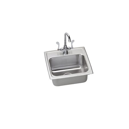 Elkay Lr1716c Stainless Steel Utility Sink Topmount 18 Gauge Single