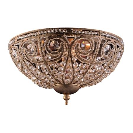 Elk lighting 59623 dark bronze crystal flushmount ceiling fixture elk lighting 59623 aloadofball Image collections