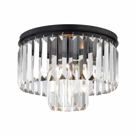 Elk Lighting 15223 1 Oil Rubbed Bronze 1 Light Flush Mount Ceiling Fixture With Crystal Shades From The Palacial Collection Lightingshowplace Com