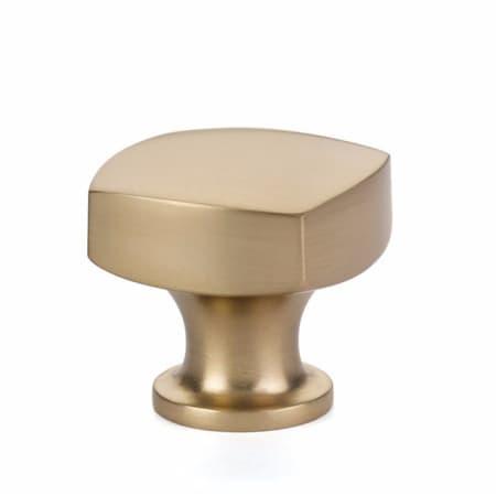 Emtek 86450us4 Satin Brass Freestone 1 1 4 Inch Square