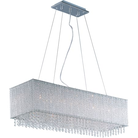 linear crystal chandelier. ET2 E23146-10PC Polished Chrome Spiral 9 Light 35\ Linear Crystal Chandelier