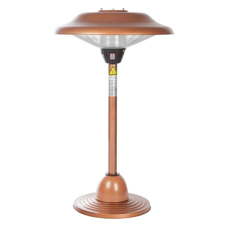 60659 Fire Sense Table Top Copper Finished Steel Halogen Patio Heater