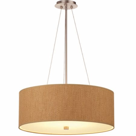 Forecast Lighting F432 Natural Grasscloth Drum Pendant