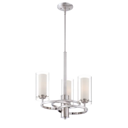 Forecast Lighting Fk0001836 Satin Nickel 3 Light 18 Quot Wide