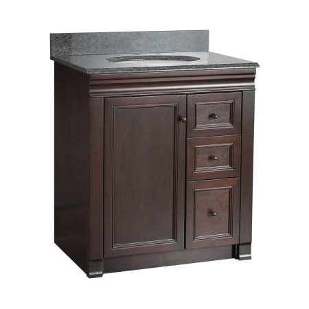 Foremost shea3021dr tobacco shawna bathroom vanity 30 with right side drawers for Bathroom vanities 30 inch with drawers