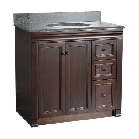 Foremost shea3621dr tobacco shawna bathroom vanity 36 - Bathroom vanity with drawers on left ...