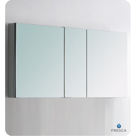 Fresca Fmc8013 Mirror 50 Quot Triple Door Frameless Medicine
