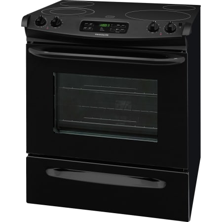 frigidaire ffes3025pb black 30 inch 4 6 cu ft slide in electric smooth top range with self. Black Bedroom Furniture Sets. Home Design Ideas