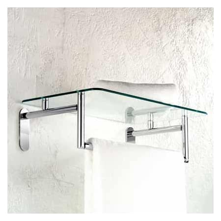 Ginger 0243 20sn Satin Nickel 20 Hotel Shelf With Towel Bar From